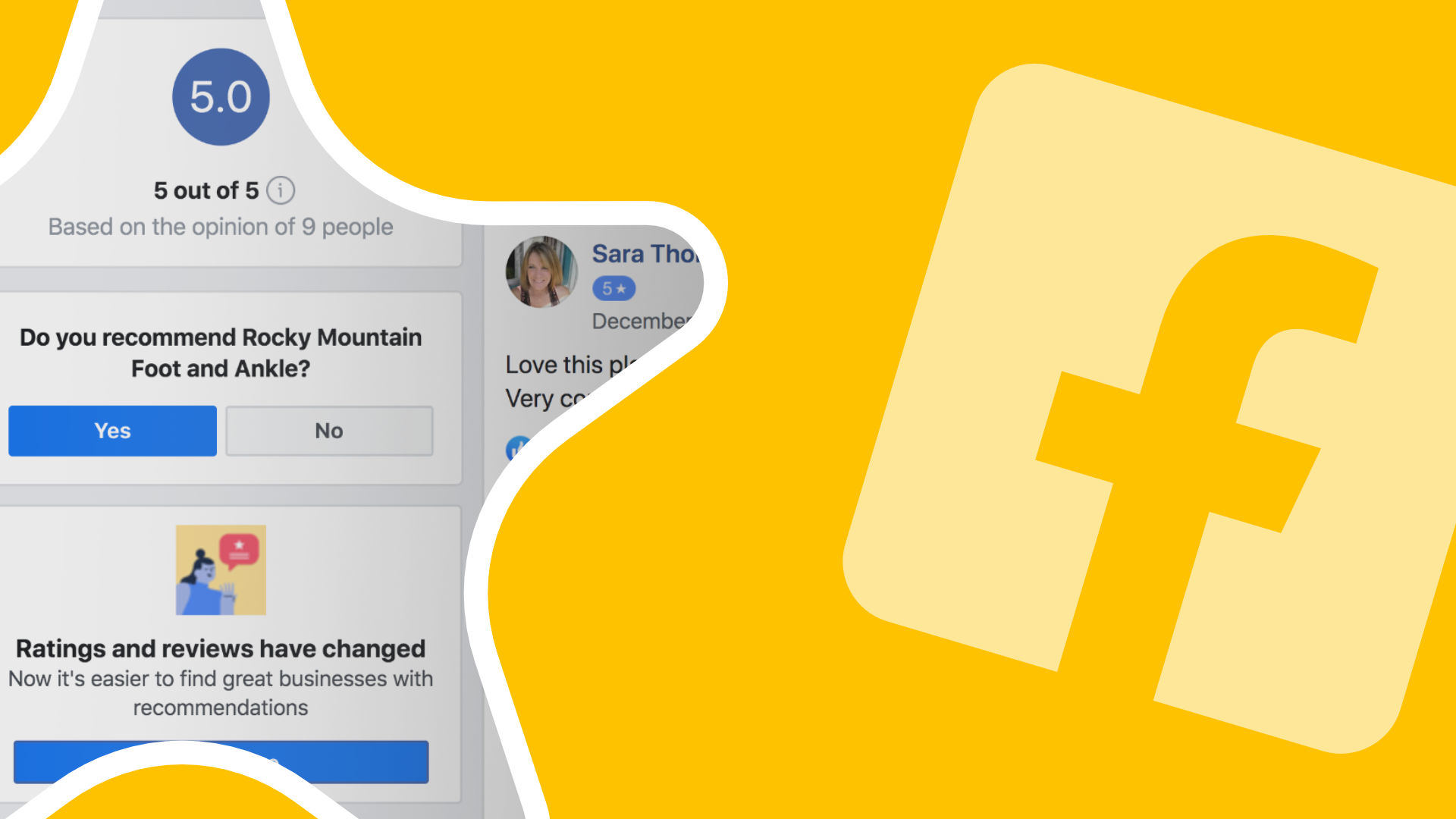facebook reviews change to recommendations