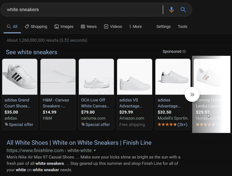 Google Ads - White Sneakers